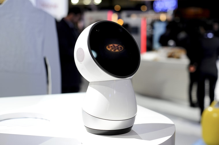 Jibo new social robot, developed by NTT and Everist, during the Mobile World Congress Day