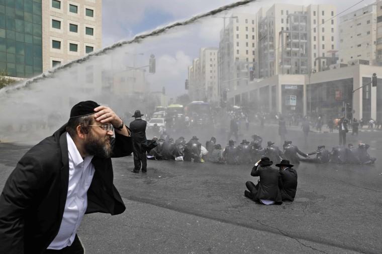 Image: TOPSHOT-CORRECTION-ISRAEL-ORTHODOX-JERUSALEM-PROTEST