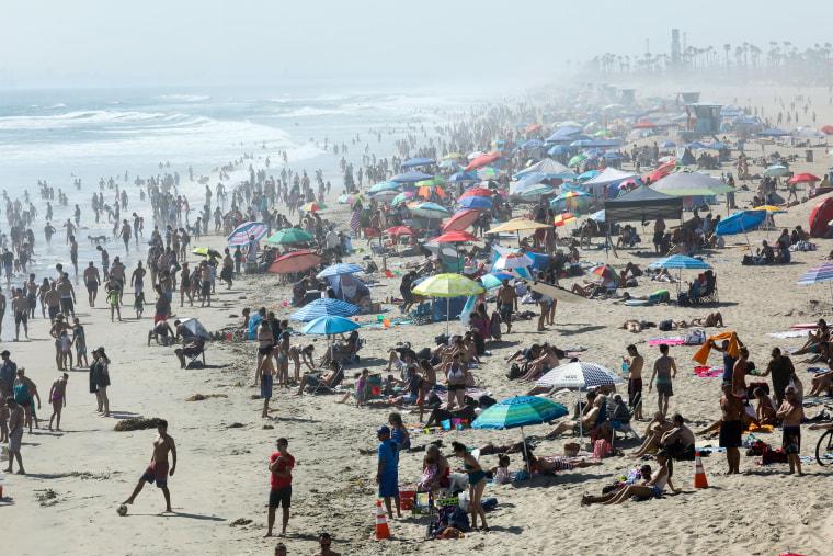 Image: Record breaking heat in California