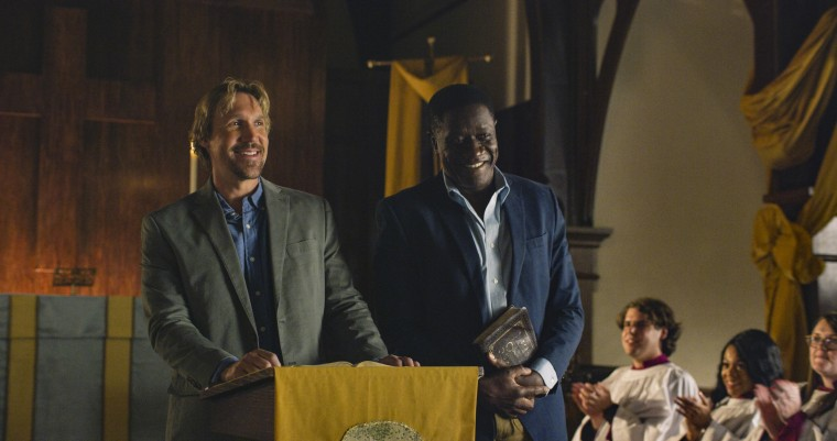 "David A.R. White and Benjamin Onyango in ""God's Not Dead: A Light in Darkness."""