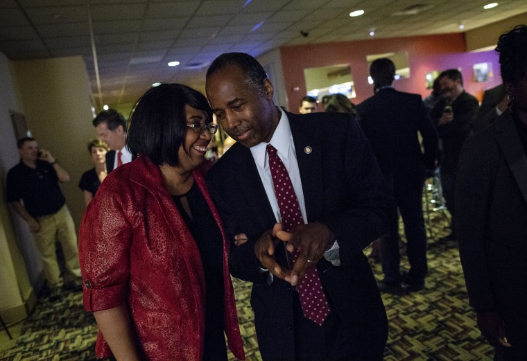 Image: Ben Carson and his wife Candy Carson