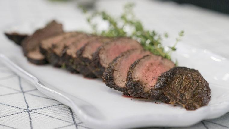 Cassidee Dabney's Marinated Rib Eye Steak + Creamed Sweet Corn