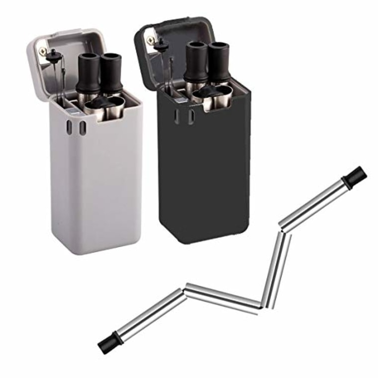 Copycat collapsible metal straw