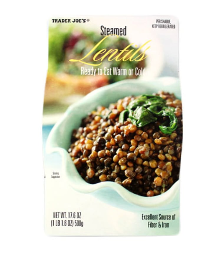 Steamed lentils are a tasty plant-based protein.