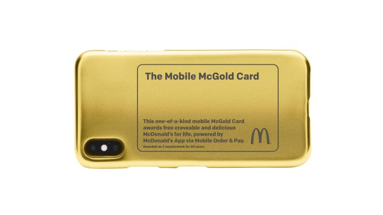The McGold Card won't be in your wallet, but on your phone.