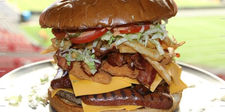 The Gridiron Challenge Burger
