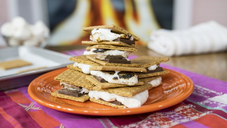 Justin Chapple's Frozen S'mores, Gooey S'mores Pie, S'mores for a Crowd, Upgraded S'mores, S'mores Milkshake