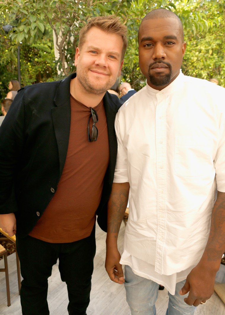 James Corden with Kanye West