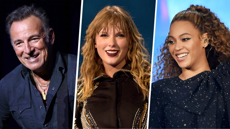 Bruce Springsteen, Taylor Swift and Beyonce