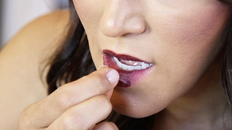 Elmer's Glue lip stain
