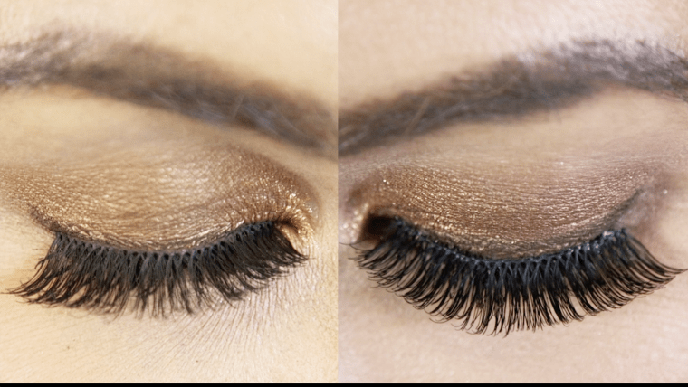 Removing the shine factor helps it look more like natural lash hairs.