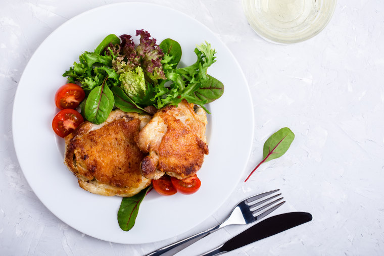 How to bake chicken: Baked chicken thighs
