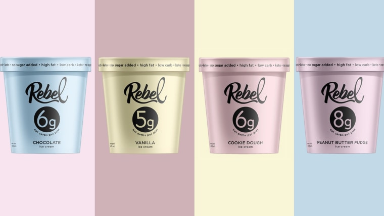 Ketogenic diet friendly ice cream from Rebel Creamery hits stores