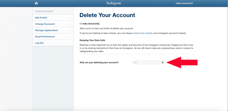 How to delete Instagram account, how to deactivate Instagram account