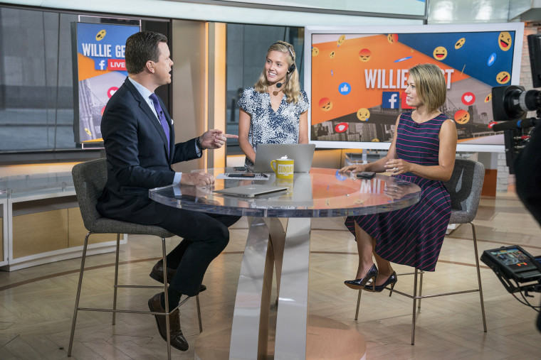 Willie Geist, Maggie Law and Dylan Dreyer on Sunday TODAY