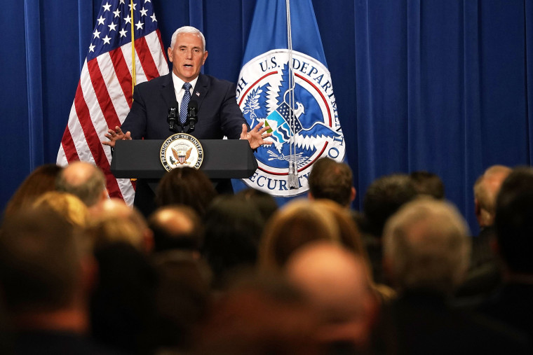 Image: VP Mike Pence Visits ICE Headquarters In Washington DC