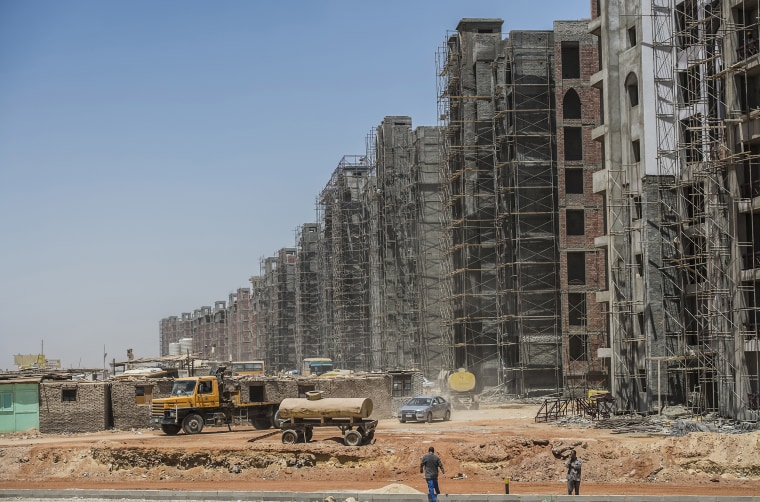 Image: A construction site in Egypt's new administrative capital