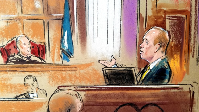 Image: Rick Gates a longtime business associate of Paul Manafort testifies on the fifth day of the trial of Manafort in Alexandria Virginia