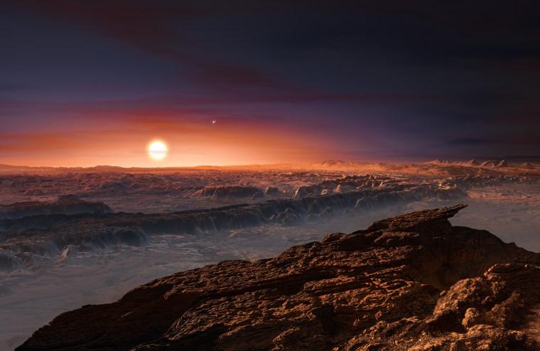 Image: Proxima b orbiting the red dwarf star Proxima Centauri