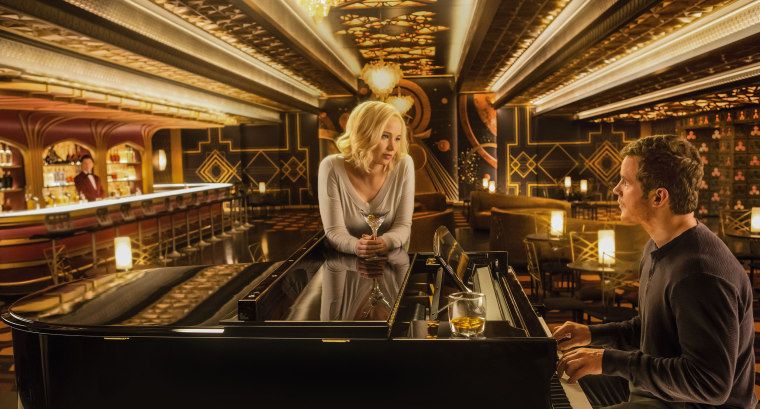 Image: PASSENGERS, from left, Jennifer Lawrence, Chris Pratt, 2016. ph: Jaimie Trueblood. (C)Columbia