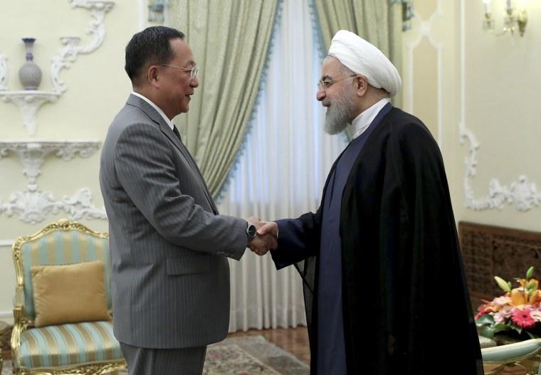 Image: Ri Yong Ho and Hassan Rouhani