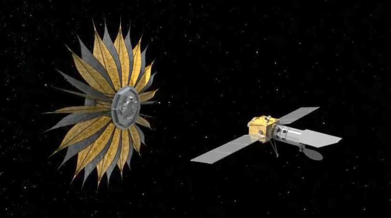 NASA's flower-shaped starshade