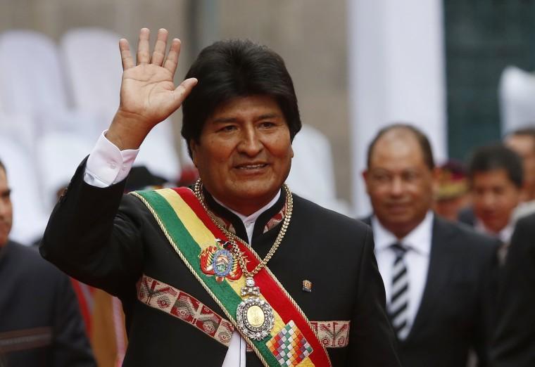 Image: Bolivia's President Evo Morales