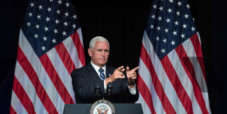 Image: US-MILITARY-SPACE-POLITICS-PENCE