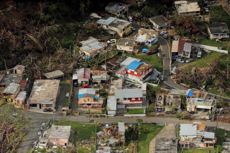 Image: FILE PHOTO: Buildings damaged by Hurricane Maria are seen in Lares, Puerto Rico