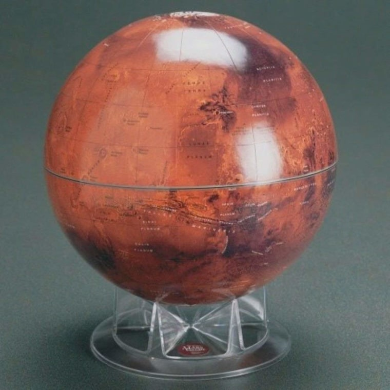 "S&T 12"" Mars Globe on Acrylic Stand"