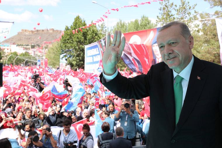 Image: Turkish President Recep Tayyip Erdogan in Bayburt