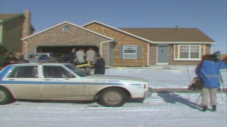 The scene of one of the hammer killing crimes in Denver in 1984.