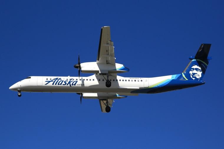 Alaska Horizon plane N449QX before it was taken and crashed.
