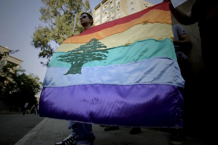 Image: LEBANON-SOCIETY-HOMOPHOBIA-RALLY