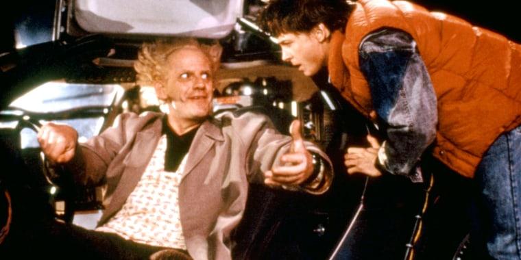 BACK TO THE FUTURE, Christopher Lloyd, Michael J. Fox, 1985