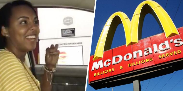 Meisje ZINGT McDonalds bestelling