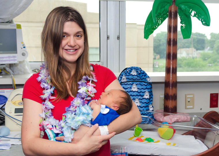 When Elizabeth Alberts learned her son Andrew had to be in the Special Care Unit she felt sad he wouldn't have as many special moments with her. When the nurses dressed him for a day at the beach, she loved seeing him dressed for fun.