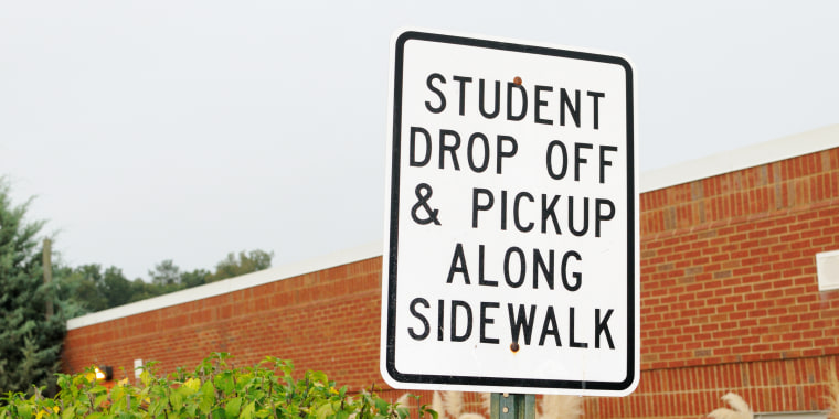 Student drop off and pickup sign