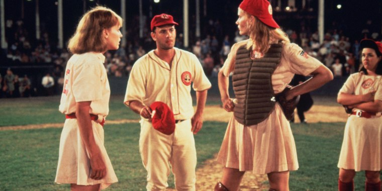 """A League of Their Own"" stars Lori Petty, Tom Hanks, Geena Davis, Rosie O'Donnell"