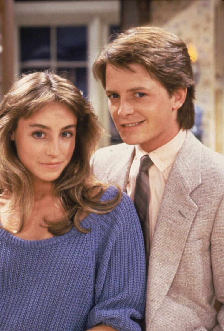 "Michael J. Fox and Tracy Pollan on ""Family Ties"""