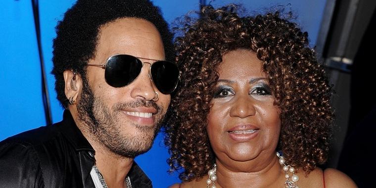 Lenny Kravitz and Aretha Franklin