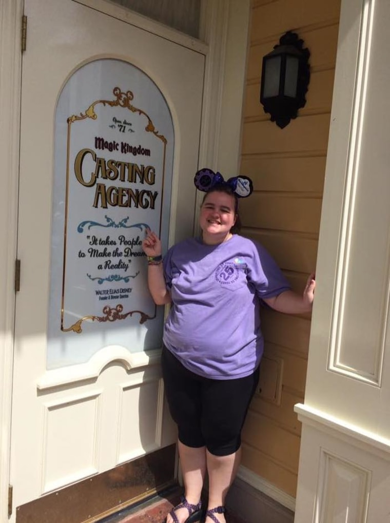 Rachel Smith, a Tennessee college student, maintains an Instagram account for the Magic Kingdom Casting Agency Door, found at Magic Kingdom.