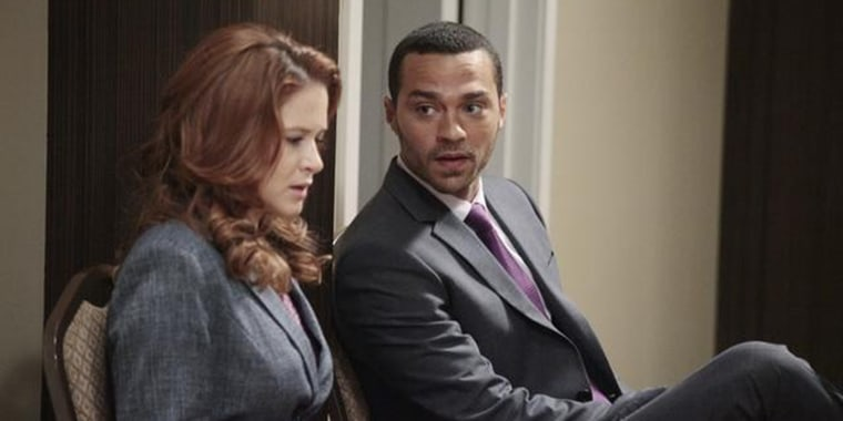 "Sarah Drew and Jesse Williams on ABC's ""Grey's Anatomy"""
