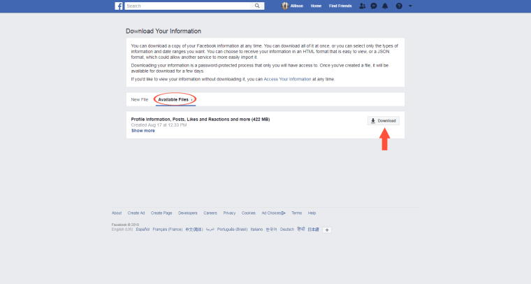 Here's how to deactivate or permanently delete your Facebook account
