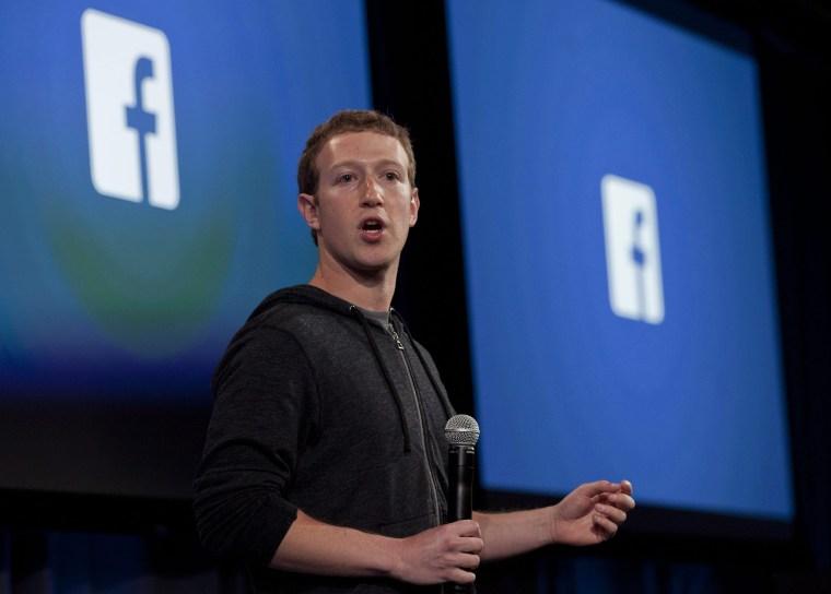 Image: Facebook Mark Zuckerberg