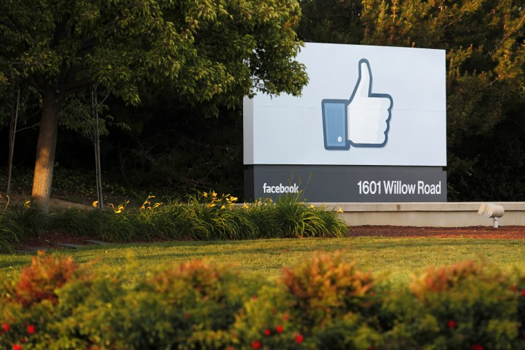 Image: Facebook's headquarters in Menlo Park, California.