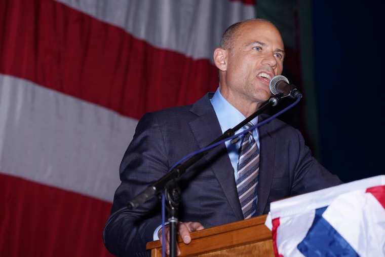 Image: Michael Avenatti attends the Iowa Democratic Wing Ding in Clear Lake Iowa