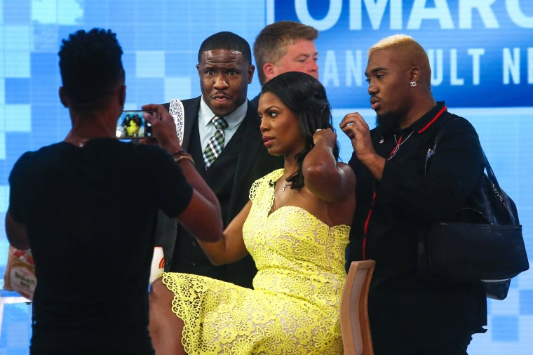 Image: Omarosa Manigualt-Newman gets her hair done before promoting her new book