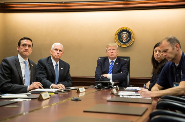 Image: President Donald Trump on a video teleconference in the Situation Room at the White House in Washington