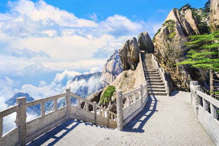 Image: Huangshan Mountain is located in Anhui province in eastern China
